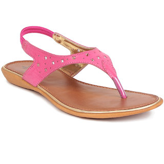 MSC Pink Casual Synthetic Leather Womens Footwears