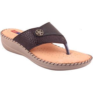 MSC Brown Casual Leather Womens Footwears