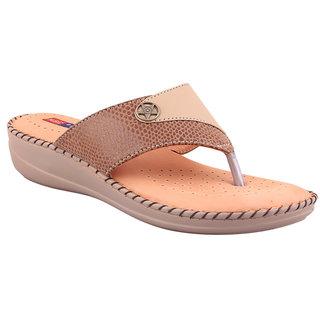 MSC Beige Casual Leather Womens Footwears