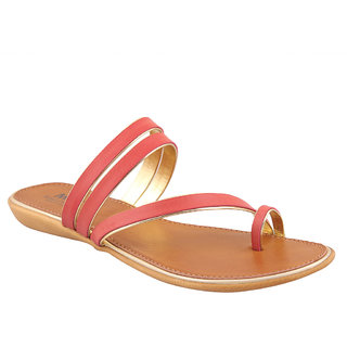 MSC Red Casual Synthetic Leather Womens Footwears