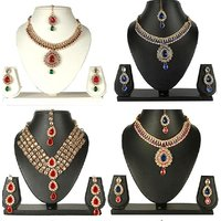 Combo Offer of 4 multi colour necklace set