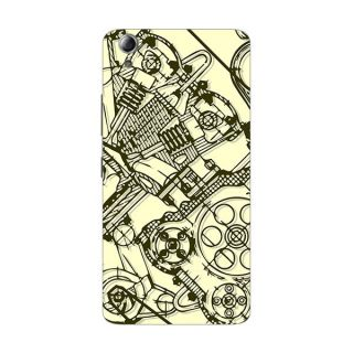 Designer Plastic Back Cover For lenovo A6000