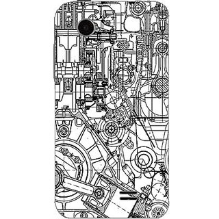 Designer Plastic Back Cover For Lenovo A369i