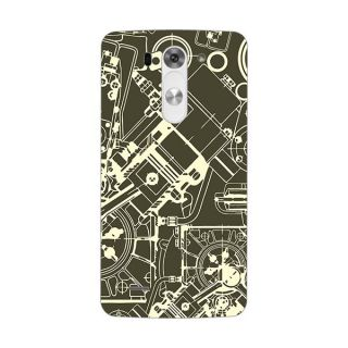 Designer Plastic Back Cover For LG G3 Beat
