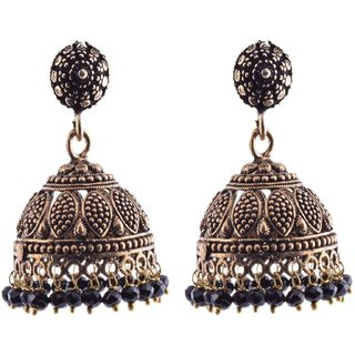 Metal Jhumki Earring For Women (Black)