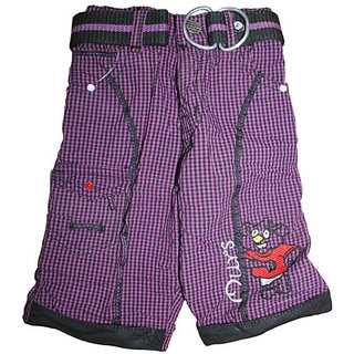 Mankoose Capri-Boys Halfpant/Three-fourth/Bermuda Purple Size 3 (2-3 Yr) 2935 B