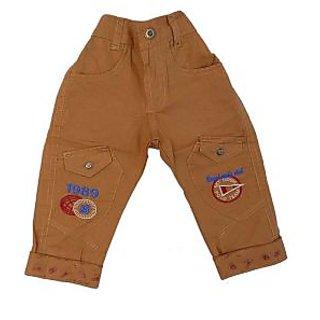 Sky Lite Maroon Boys Cotton Pant