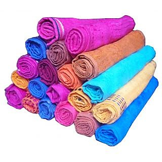 Get best deal for Xy Decor Pack of 20 Cotton face Towel at Compare Hatke