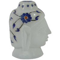 White Marble Budha Head For Home Use - 89587295
