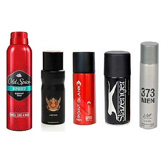 Favourite Five- Old spice Deo+ Provogue SFL+Point Blank+Slazenger+Pencil Deo