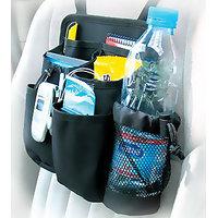 Compact 7 Pocket Automotive Car Back Seat Organiser Bottle Holder