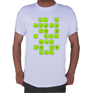 Smiley Candy In Green T-shirt By Shopkeeda