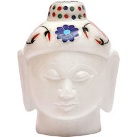White Marble Budha Head For Home Use 2.5 Inch