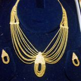 Beautiful Design Gold Plated Necklace Set With Earrings