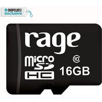 Rage MicroSDHC 16 GB Class 10  Memory Card