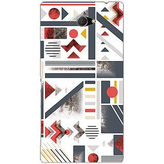 Garmor Designer Plastic Back Cover For Sony Xperia M2