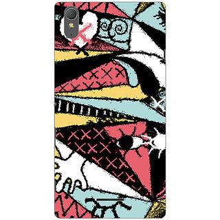 Garmor Designer Plastic Back Cover For Sony Xperia T3
