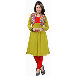 Lovely Look Green Embroidered Stitched Kurti LLKELE1012XL