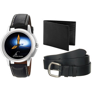 Combo of Graphic Watch  Wallet  Belt