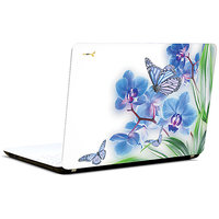 Pics And You Flowers And Butterfly 3M/Avery Vinyl Laptop Skin Decal-AB031