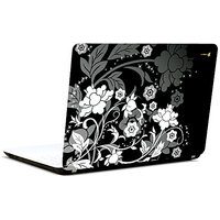 Pics And You Monochrome Flowers 3M/Avery Vinyl Laptop Skin Decal-AB048