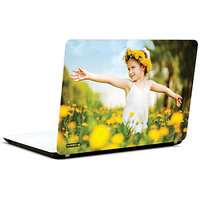 Pics And You Little Girl In Garden2 3M/Avery Vinyl Laptop Skin Decal-AB179