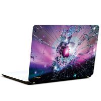 Pics And You Apple Logo Shattered 3M/Avery Vinyl Laptop Skin Decal-AB157