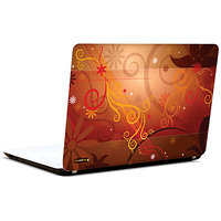 Pics And You Abstract Floral Red 3M/Avery Vinyl Laptop Skin Decal-AB192