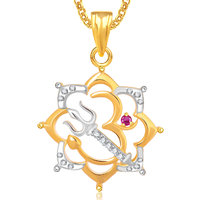 God Pendant With Chain Lockets For Men And  Women Gold Plated In American Diamond Cz  GP300