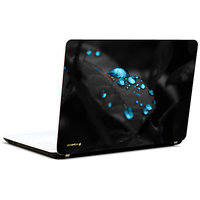 Pics And You Blue Drops On Leaf 3M/Avery Vinyl Laptop Skin Decal-AM065
