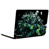 Pics And You Green N Black Pattern 3M/Avery Vinyl Laptop Skin Decal-AM113