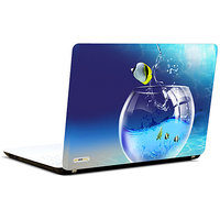 Pics And You 3D Fish In Bowl 3M/Avery Vinyl Laptop Skin Decal-AM083