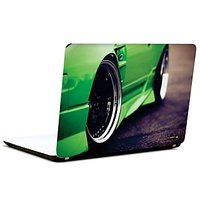 Pics And You Green Sports Car 3M/Avery Vinyl Laptop Skin Decal-CA039