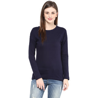 Hypernation Round Neck Navy Color With Cotton Top
