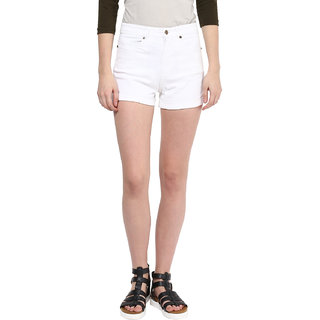 Hypernation White Twill Color Short For Women