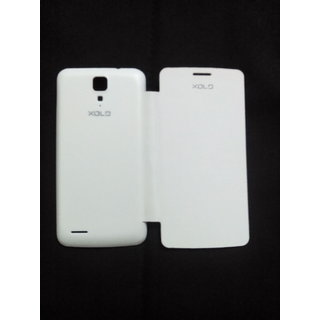 xolo q700 flip cover white available at ShopClues for Rs.160