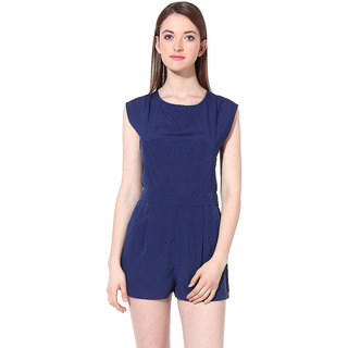Oxolloxo Womens Blue Polyester Casual Jumpsuit