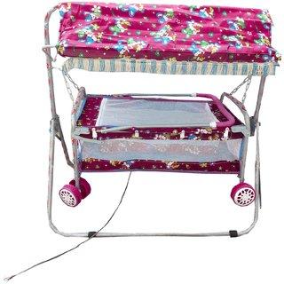 Suraj babypinkbassinets and cradles(JHULLA baggi and PALNA baggi)withmosquitonet