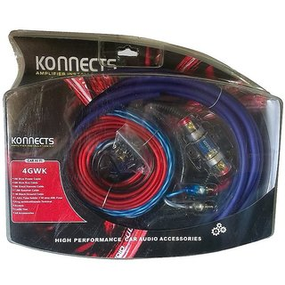 Konnects 4 Gauge Heavy Amplifier Wiring Kit With 2 To 4 Channel Convertor