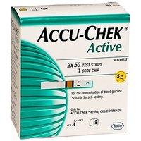Accu Chek Active Diabetic Strips (100 Strips)