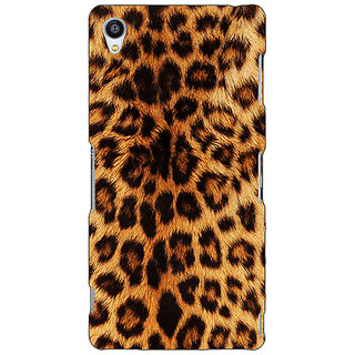Jugaaduu Cheetah Leopard Print Back Cover Case For Sony Xperia M4 - J610080