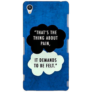 Jugaaduu TFIOS Thats the thing about Pain  Back Cover Case For Sony Xperia M4 - J610107