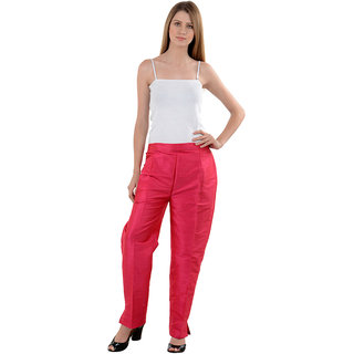 NumBrave Pink Raw Silk Pants