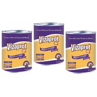 Vizaprot protein powder  , sugar free ( chocolate flavour ) pack of 3 ( 600 gm )
