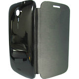 Micromax Canvas HD Black Flip Case Cover For Micromax A116 Canvas HD