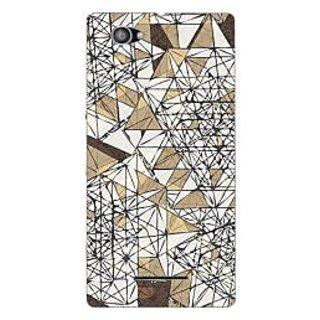 Garmor Designer Plastic Back Cover For Sony Xperia M