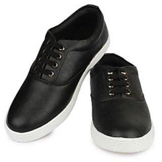Do Bhai Men Black Casual Shoes (ST-023-Black)