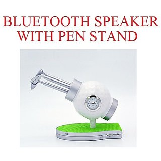 Golf-Pen-Stand-With-Clock-An-Bluetooth-Speakers