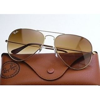 Unisex Gradle Brown Sunglasses With Metalic Frame.....best Price