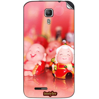 Instyler Mobile Skin Sticker For Micromax Canvas Juice A77 MSMMXCANVASJUICEA77DS-10064 CM-3424